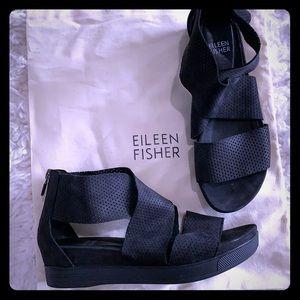 NEW Eileen Fisher Cross Cross Leather Sport Sandal
